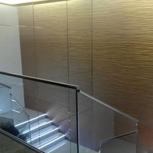 acristalamiento espejo en escaleras