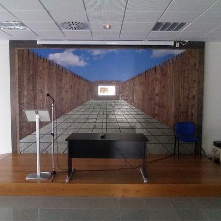 mural para sala multiusos