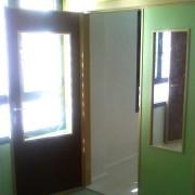 puerta melamina en dos colores