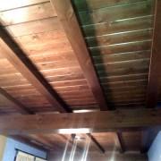 techo y vigas en madera