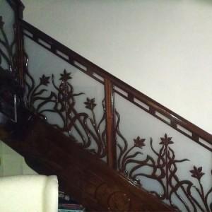 decoración artesanal en escalera